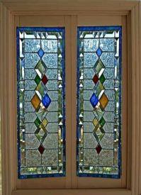 Dollhouse Miniature Artisan Leaded Glass French Doors ...