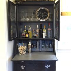 Pottery Barn Kitchen Hutch Cabinet Design Ideas My Vintage Secretary Painted Black Shabby Chic And ...