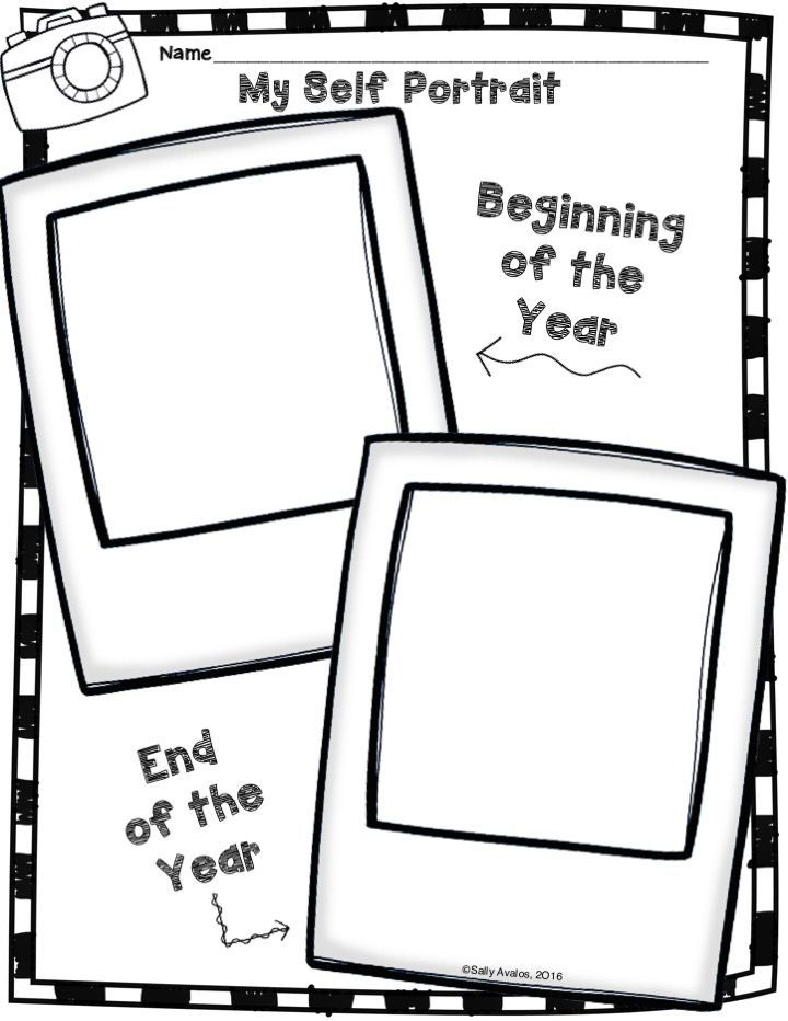 FREEBIE! This self portrait activity includes directions
