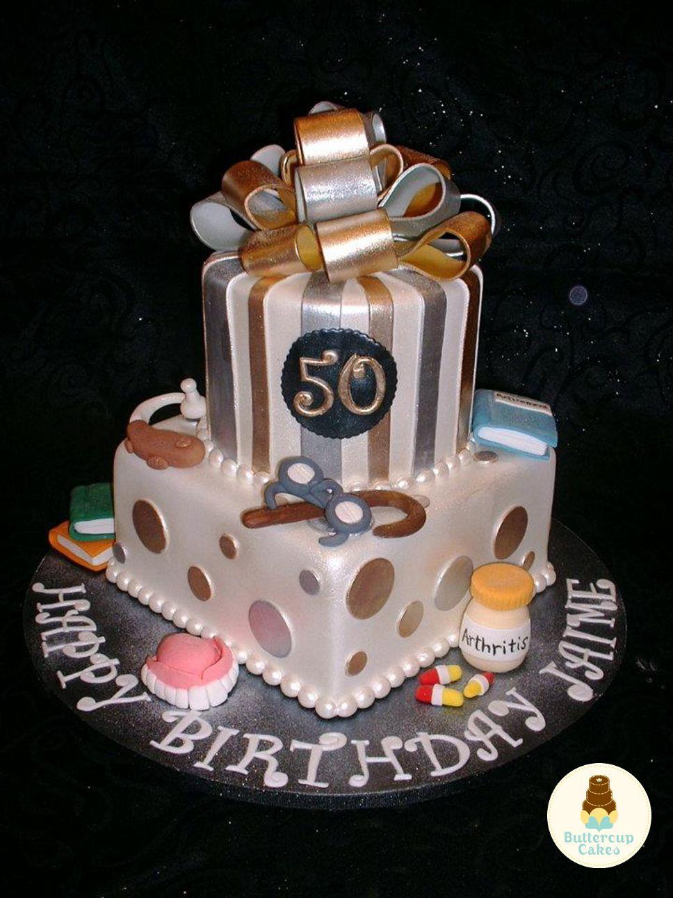 50th Birthday Cake Birthday Cakes Pinterest Birthday