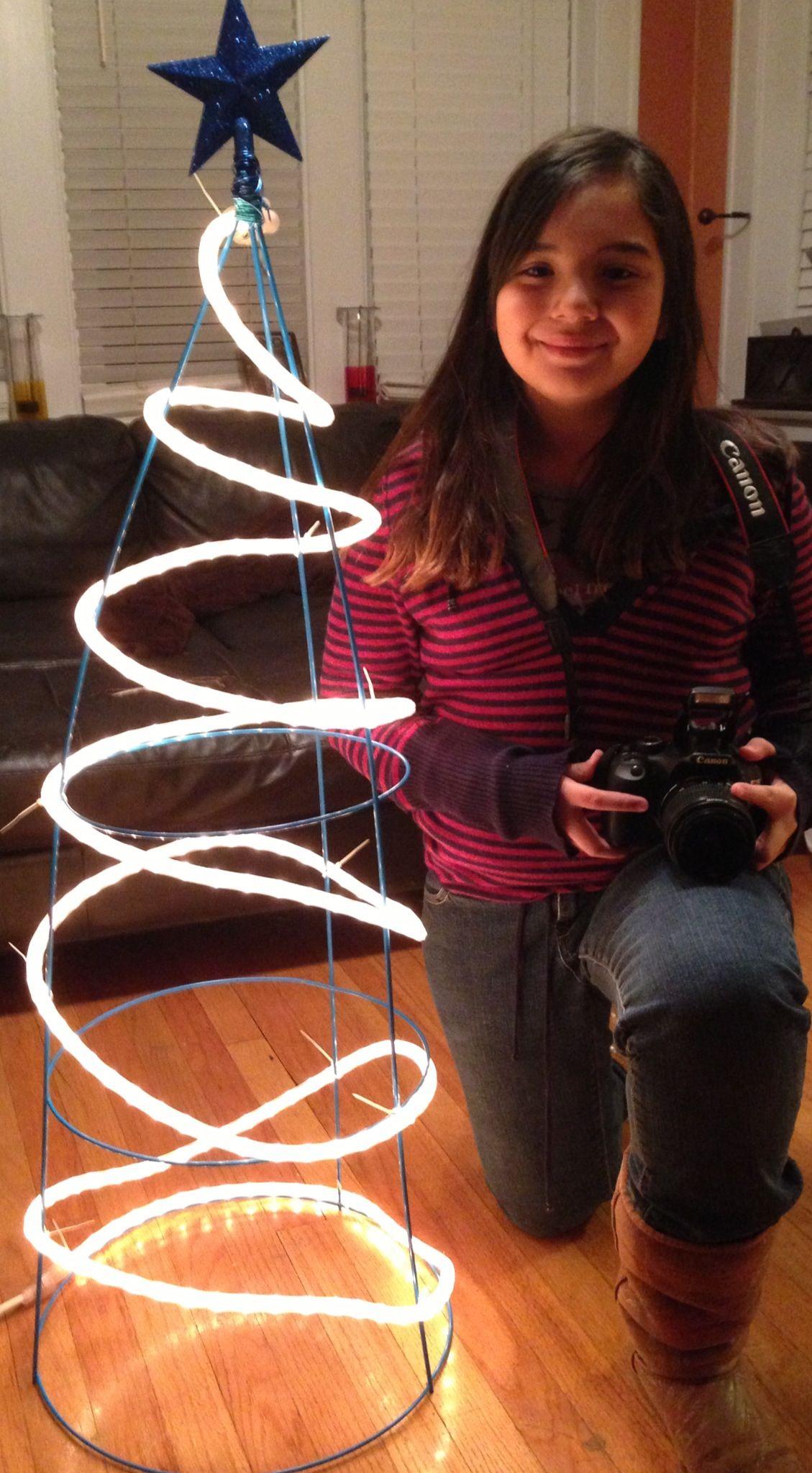 Christmas Tree Made Lights Yard