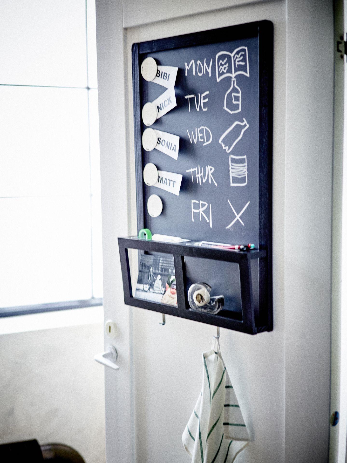 LUNS Schrijfmagneetbord zwart  Schrijfbord Magneten