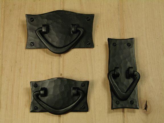 black rustic kitchen cabinets