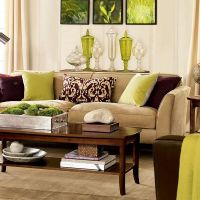 Lime green and brown decor ideas for the living room ...