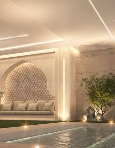 Pool seating private villa kuwait sarah sadeq architects also arch archsarahs on pinterest rh