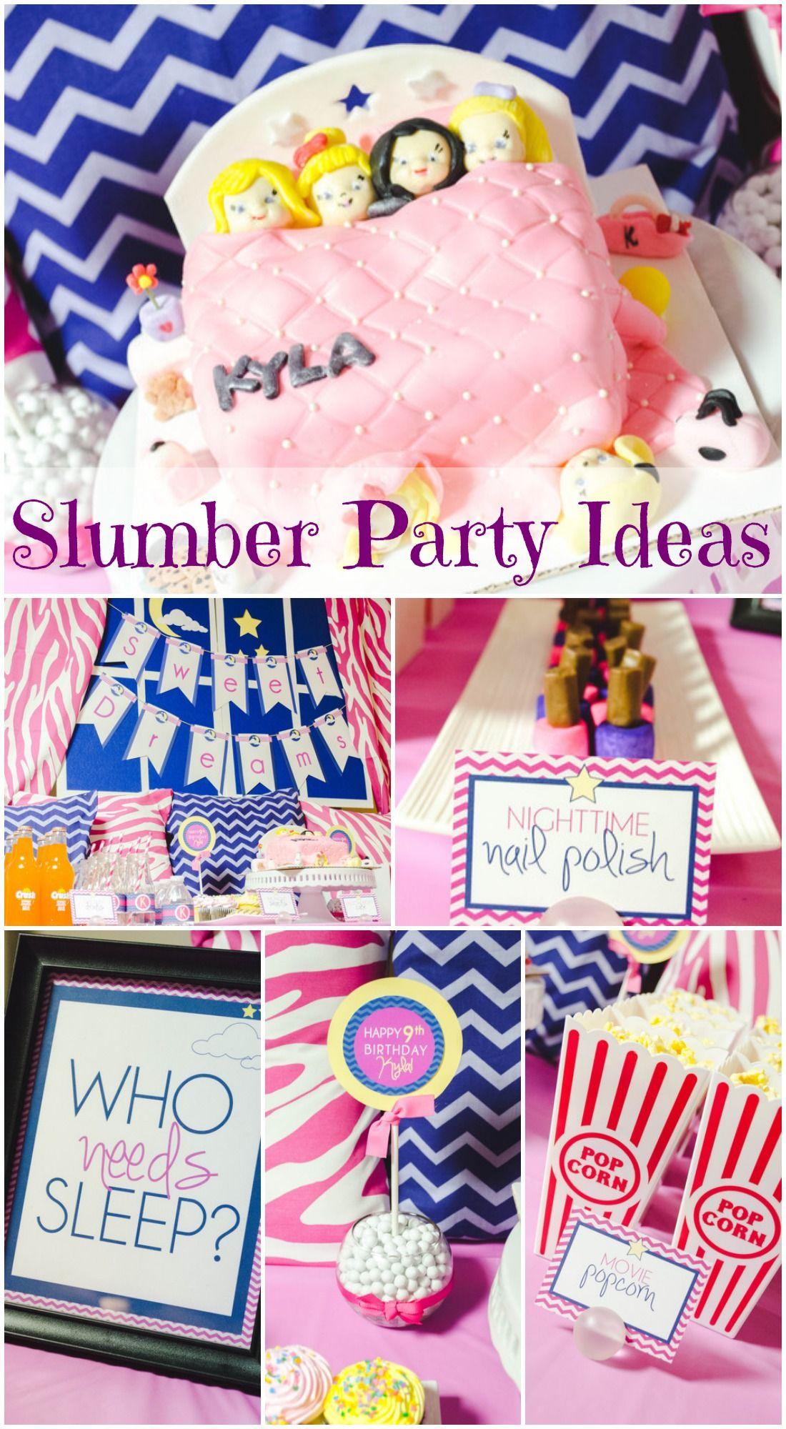 Slumber Party Birthday Who Needs Sleep