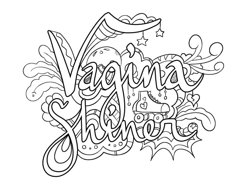 vagina shiner  coloring pagecolorful language ©