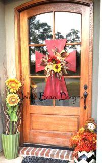 front door, wooden cross, fall, cross door hanger Would ...
