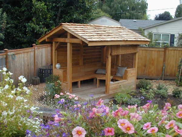 A Very Small Garden Structure Provides A Year Round Retreat From