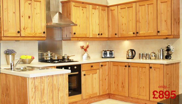 Yellow Pine Kitchen Cabinets