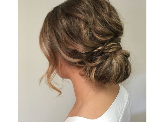 soft low bunkayla marshall wedding hair | kayla marshall