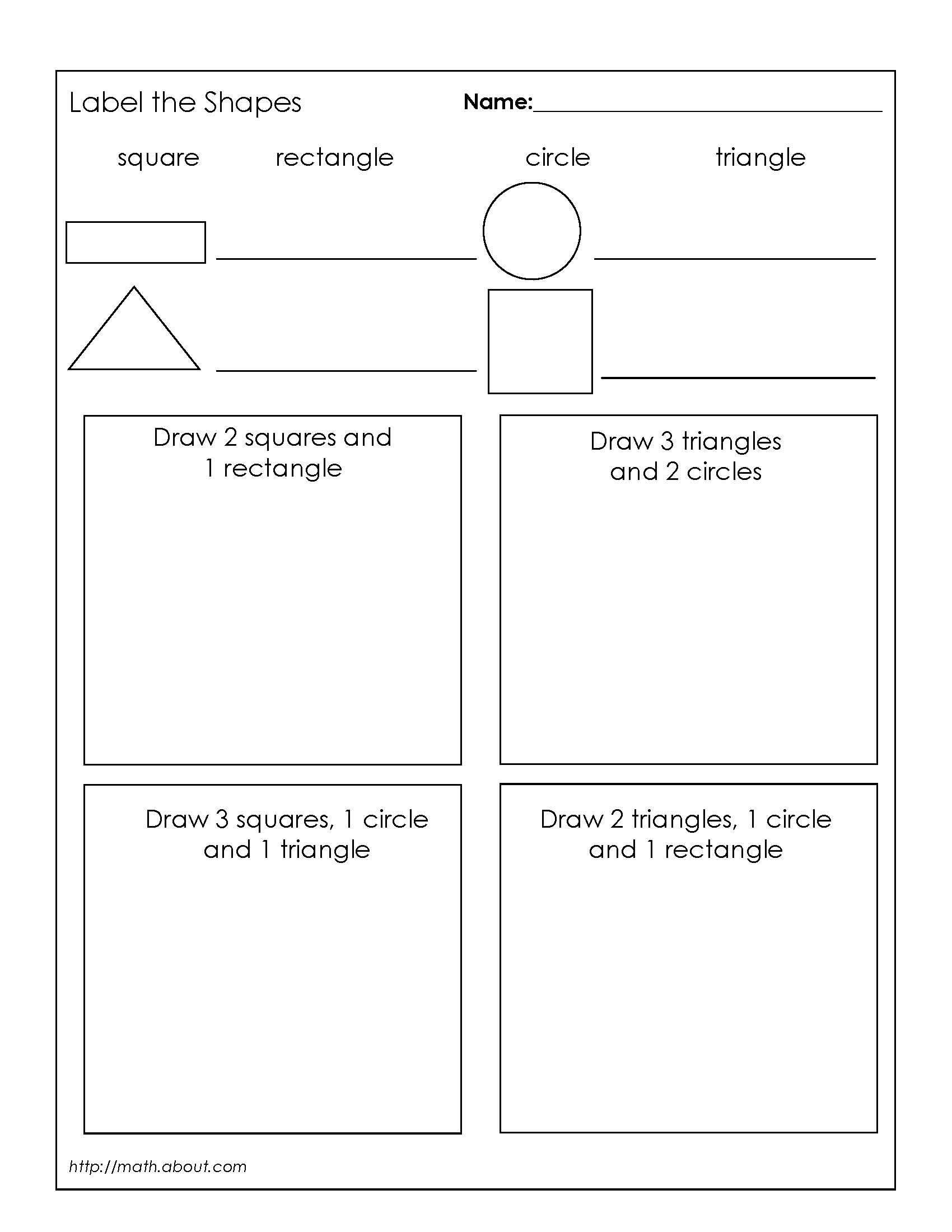 1st Grade Geometry Worksheets For Students