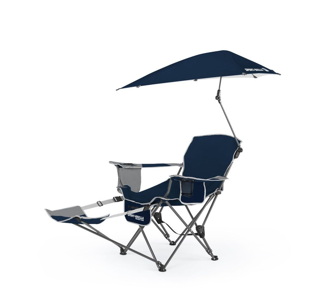 Reclining Camping Chair with Umbrella Cup Holder Beach