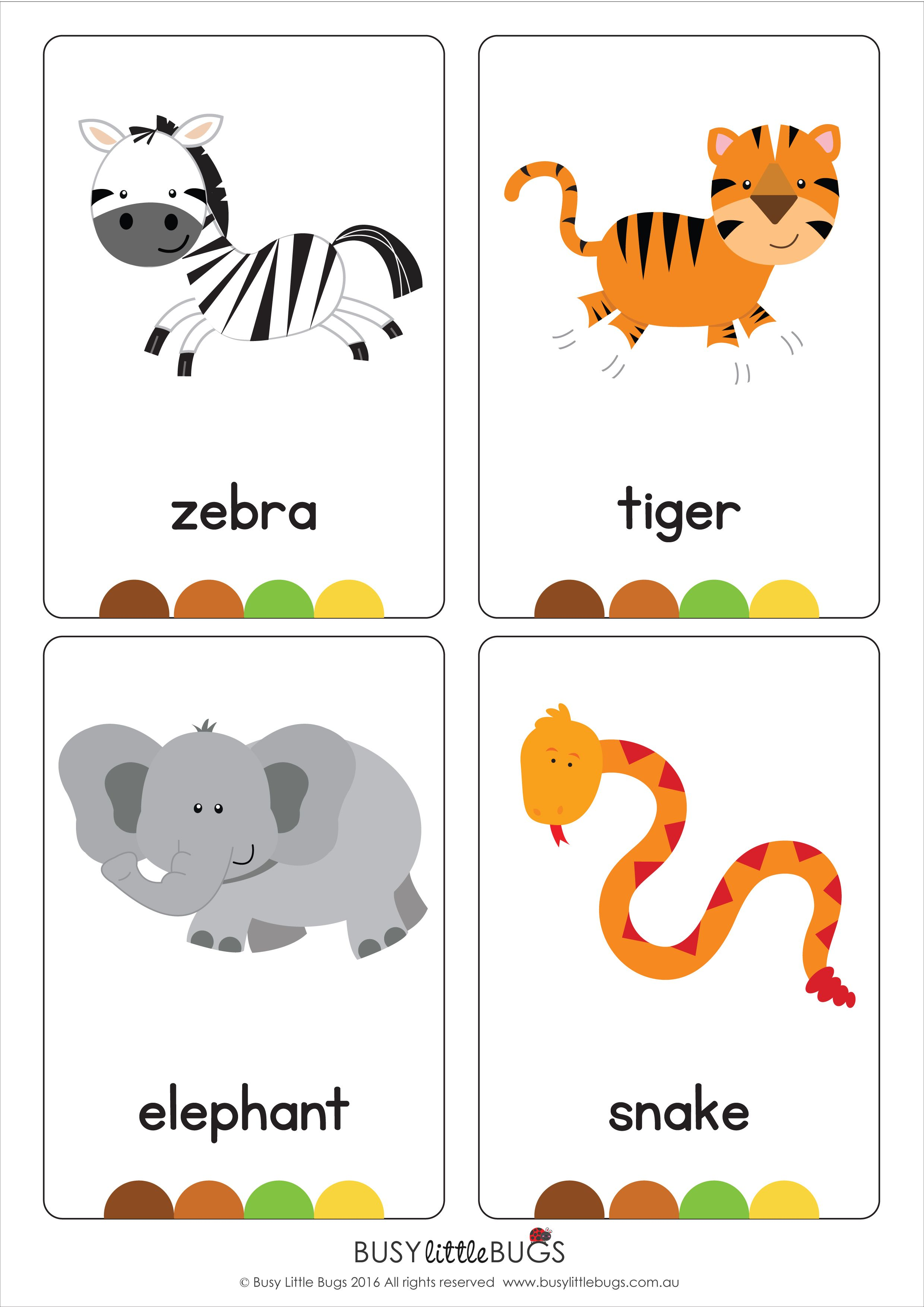 Our Set Of Printable Jungle Animal Flash Cards Are A