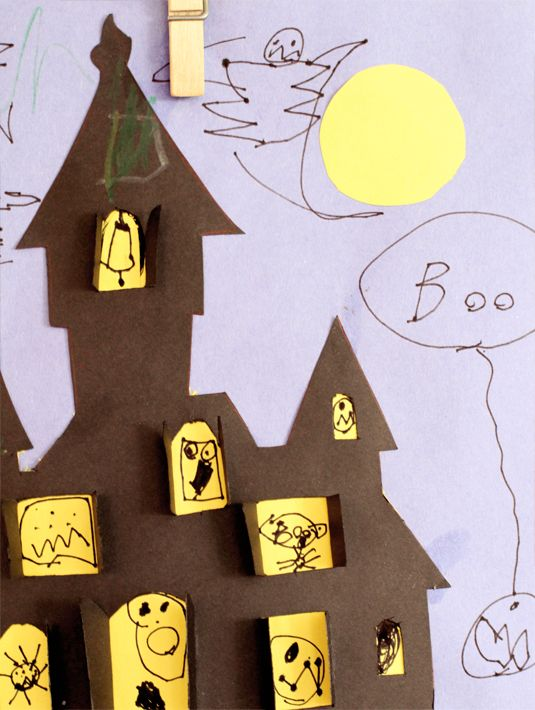 Haunted House Halloween Cut Out Fre PDF Printable Instructions
