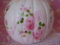 Painted shabby chic pumpkin