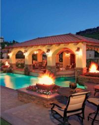 spanish style landscape with a pool   Pools with Pizzazz ...
