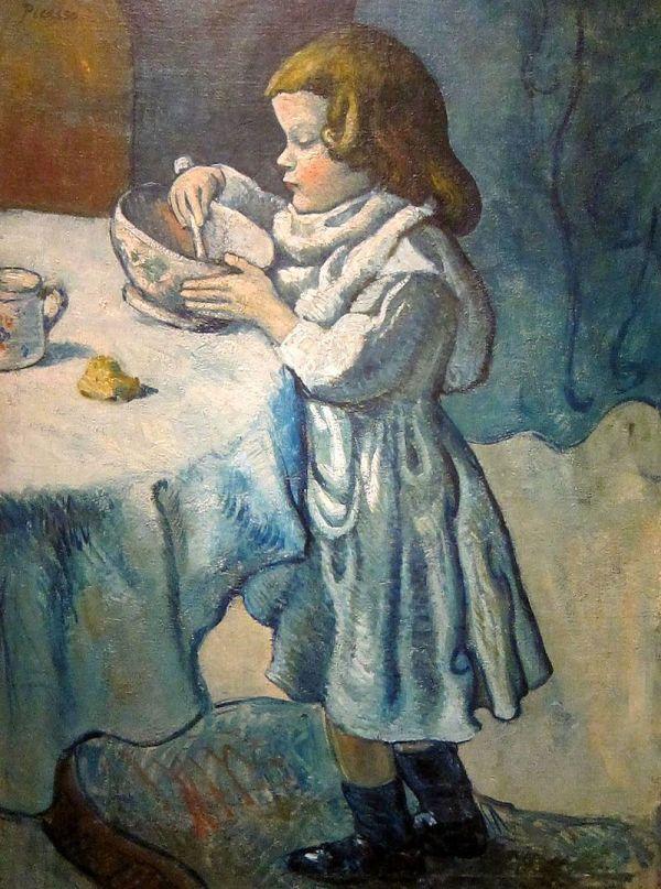 Pablo Picasso 1901 Le Gourmet Greedy Child Il