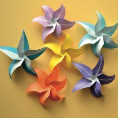 Star Flower Origami Diagram 1995 Dodge Dakota Wiring Flowers Tutorials And
