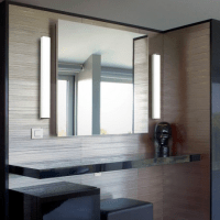 bathroom mirror with vertical side lights