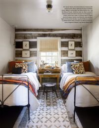 Bedroom with two beds. Idea for a shared bedroom. Desk ...