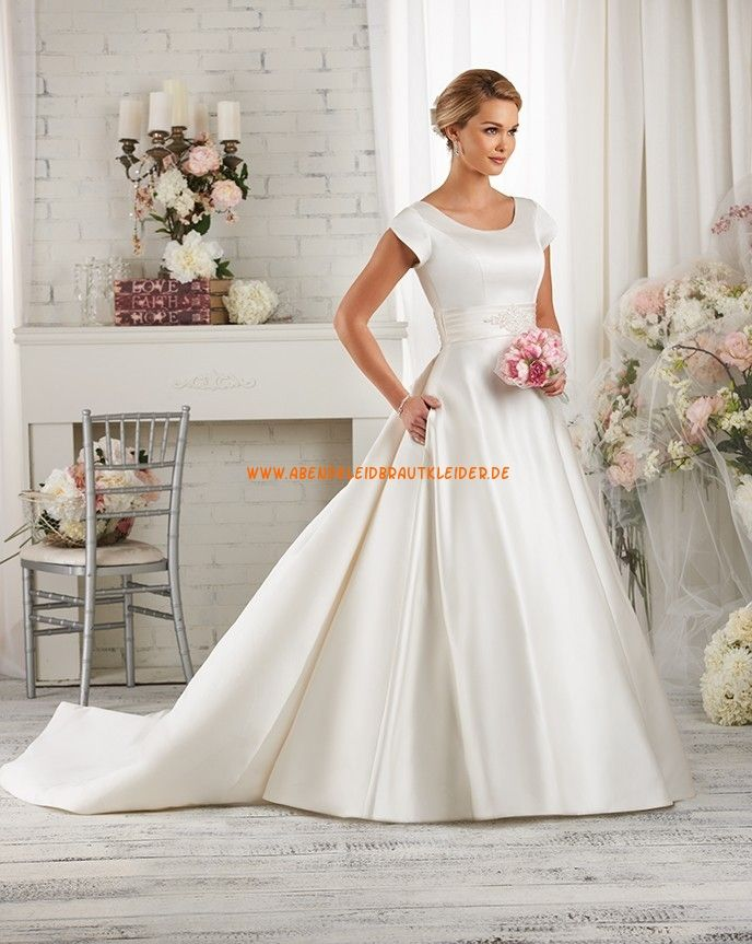 Bonny Bliss A Linie Schöne Elegante Brautkleider Aus Taft Mit