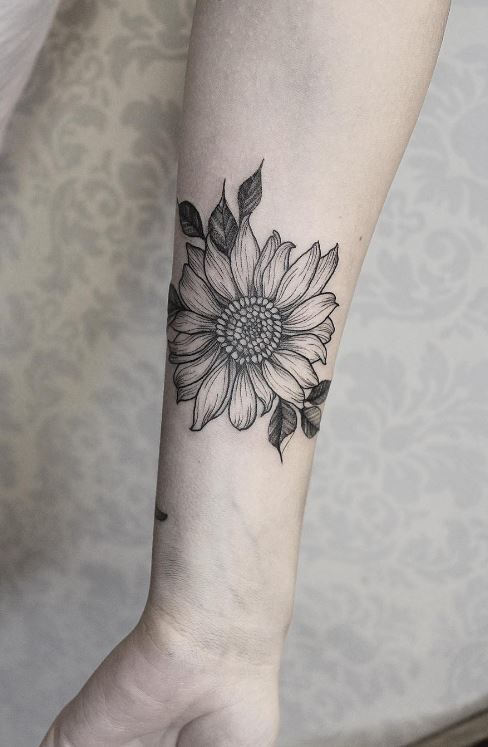 Sunflower Tattoos Pin