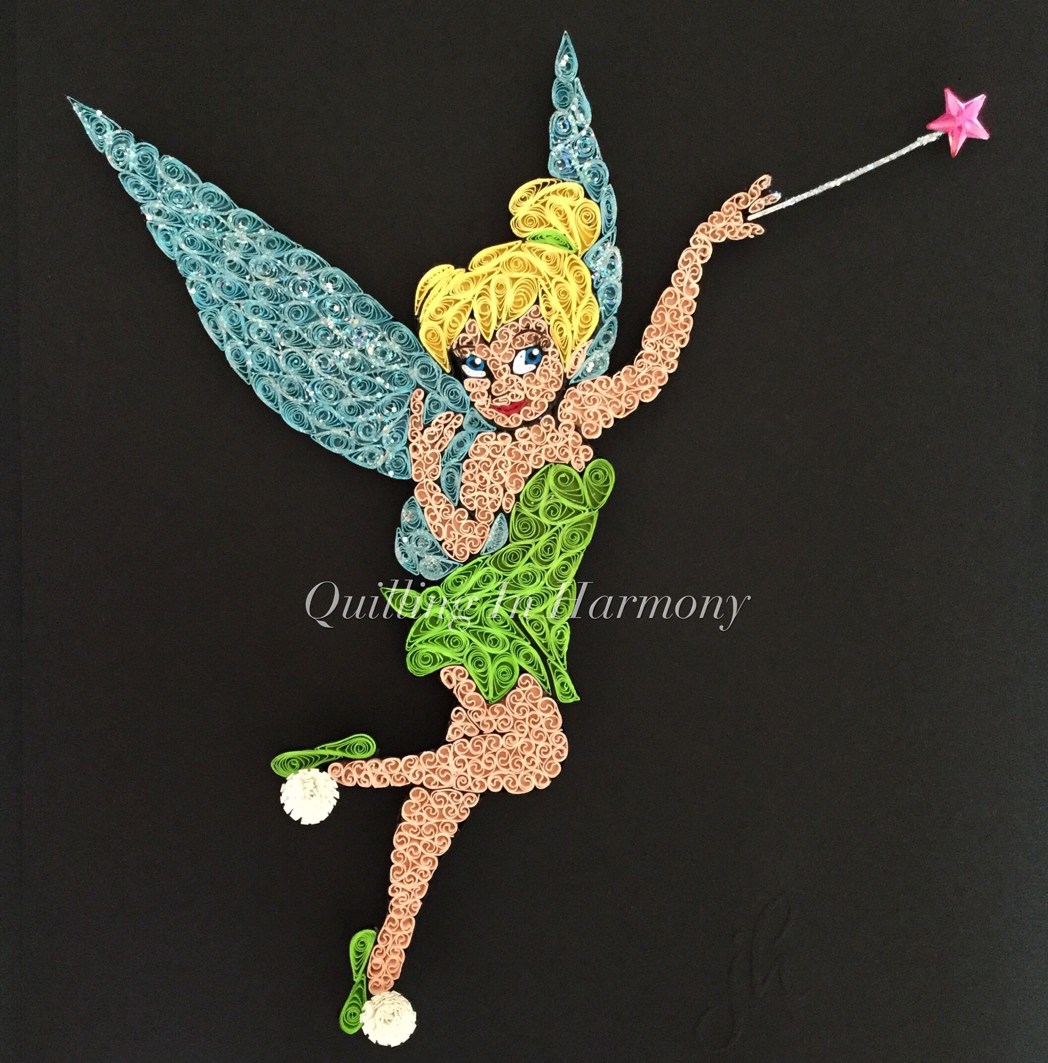 Title Tinkerbell 12 X12 30cmx30cm Quilling Hand
