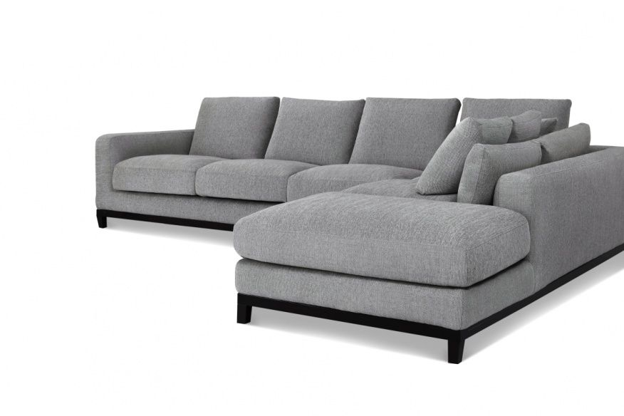 grey tweed sectional sofa ashley genuine leather reclining couch gallery pinterest