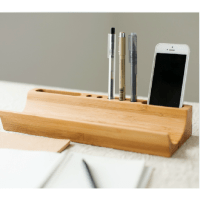 Stylish Bamboo Wooden Desk Organizer | Zen Forest ...