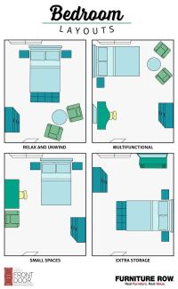Bedroom Layout Guide | Small spaces, Layouts and Storage