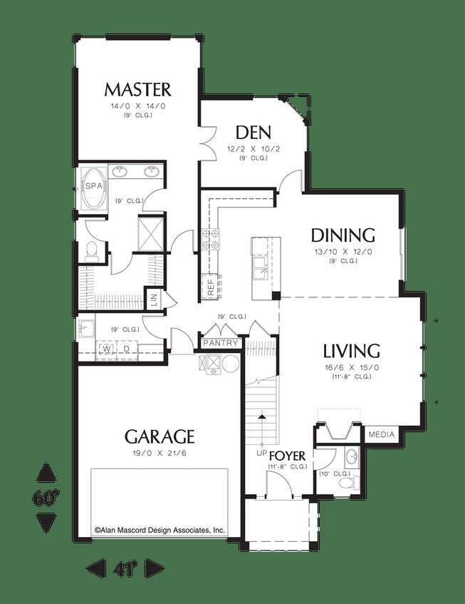 Mascord House Plan 21106  Craftsman style Craftsman and