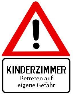 Achtung Kinderzimmer Trschild zum Ausdrucken  Trschild