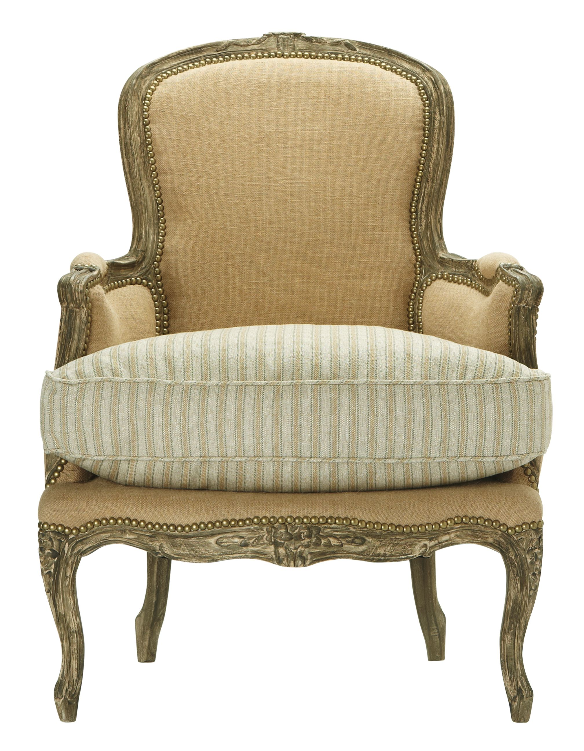 burlap sofa chair ashley table desk a salute to the classic french bergere