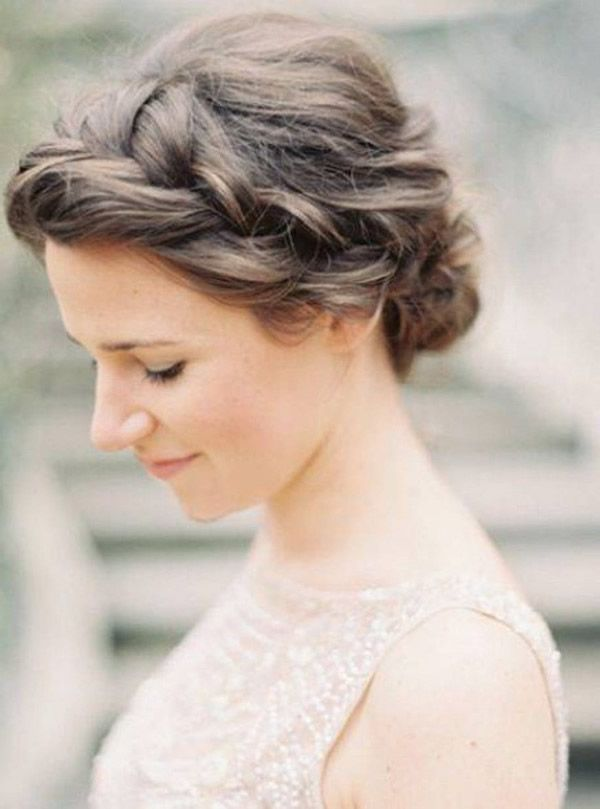 Einfache Frisuren Für Mittellange Haare Hochzeit Pinterest