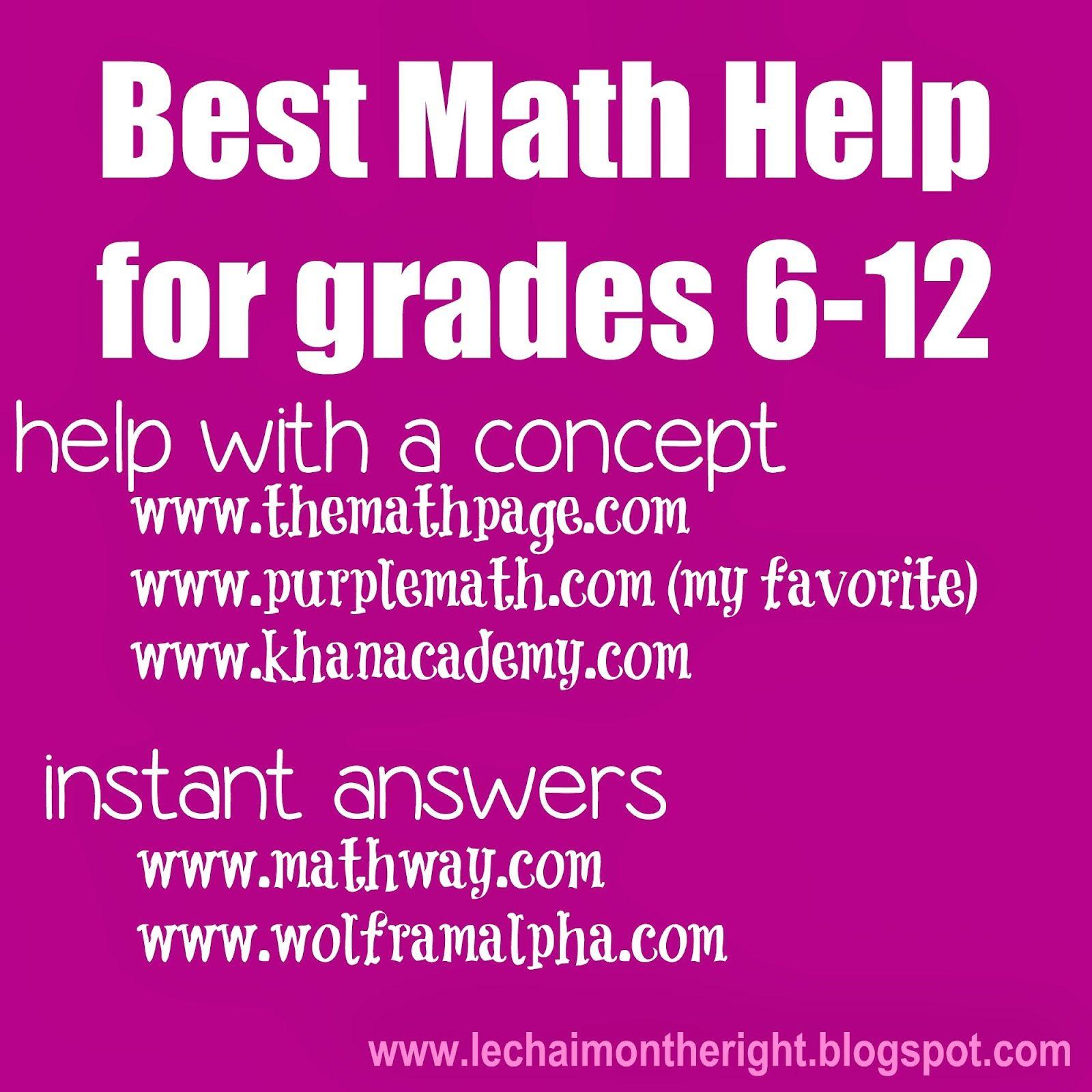 Best 25 Math Help Ideas