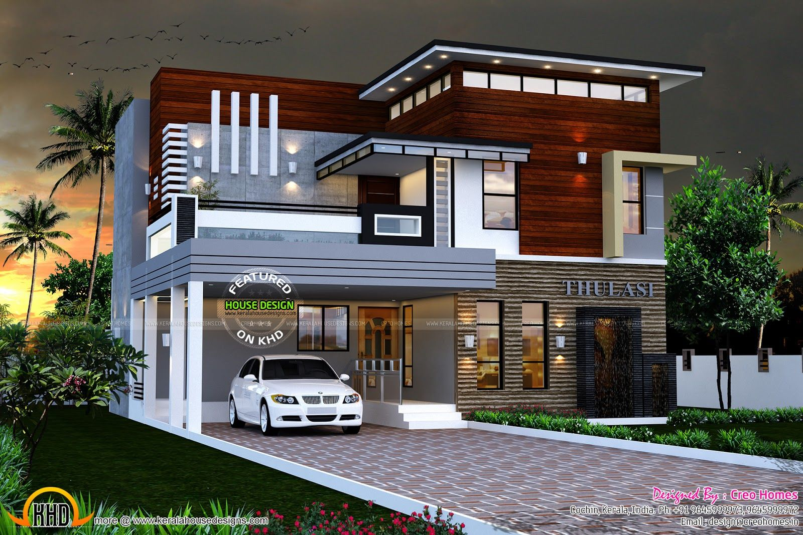 Eterior Design Modern Small House Architecture Building Plan Home