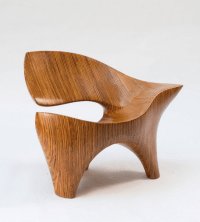David Delthony . carved laminated plywood chair, c1985 ...