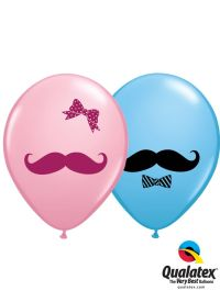 Are these printed latex balloons with mustache, bow and