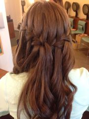 double waterfall braid prom hair