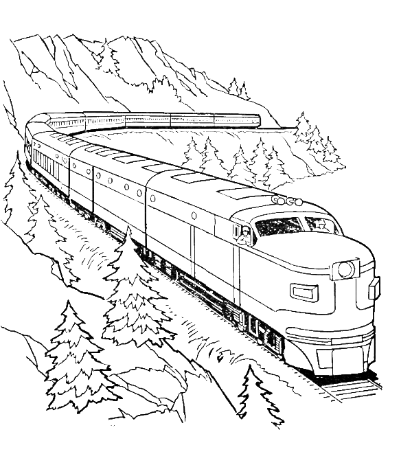 Train Clip Art Free Printable Coloring Pages. Train. Best