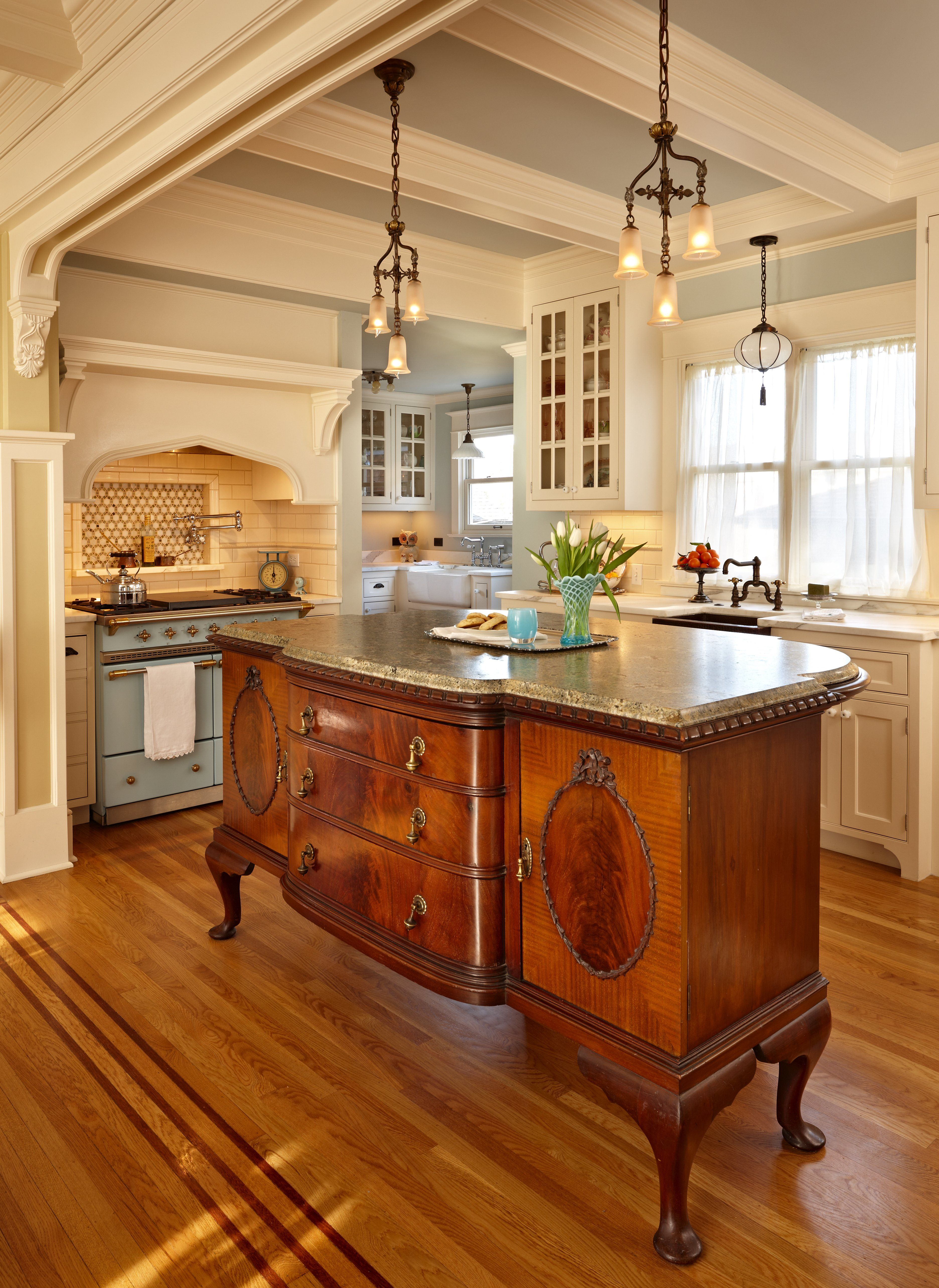 french kitchen island triangle table the centerpiece of is an antique