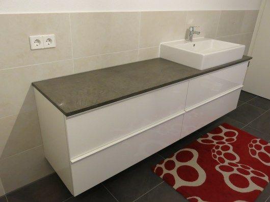 Bad Waschtisch und DIY Konsole mit Beton Cir und Ikea