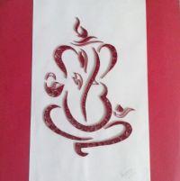 My Quilled Ganesha. # paper filigree art # handmade frames ...