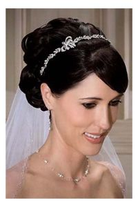 Hairstyles, Wedding Hair With Veil And Tiara: Hairstyles ...