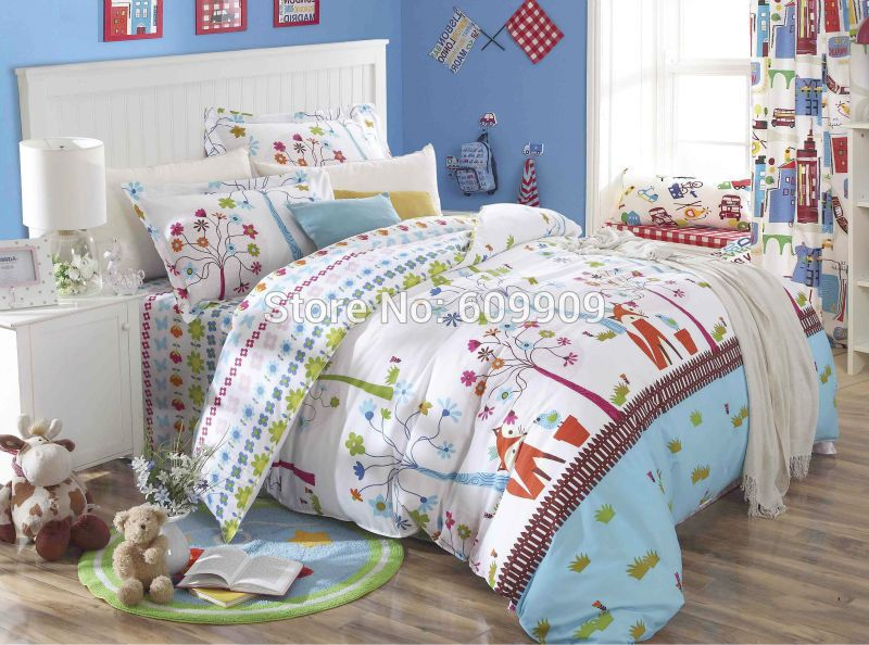 Forest Bedspreads Animal Girls