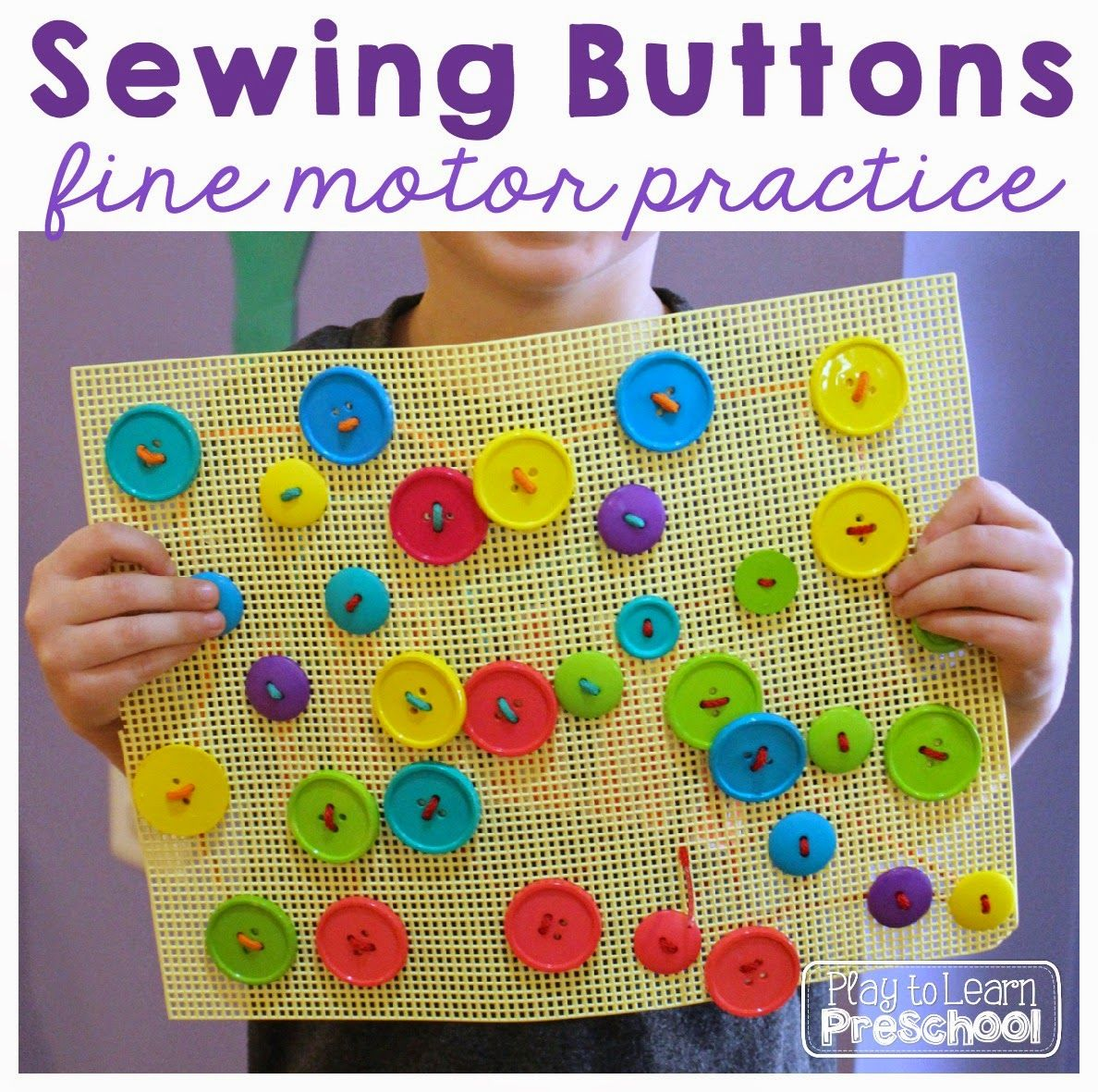 Play To Learn Preschool Sewing Buttons