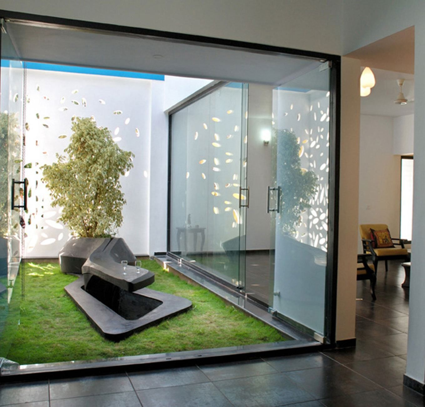 Home Designs Gallery Amazing Interior Garden With Modern Glazed