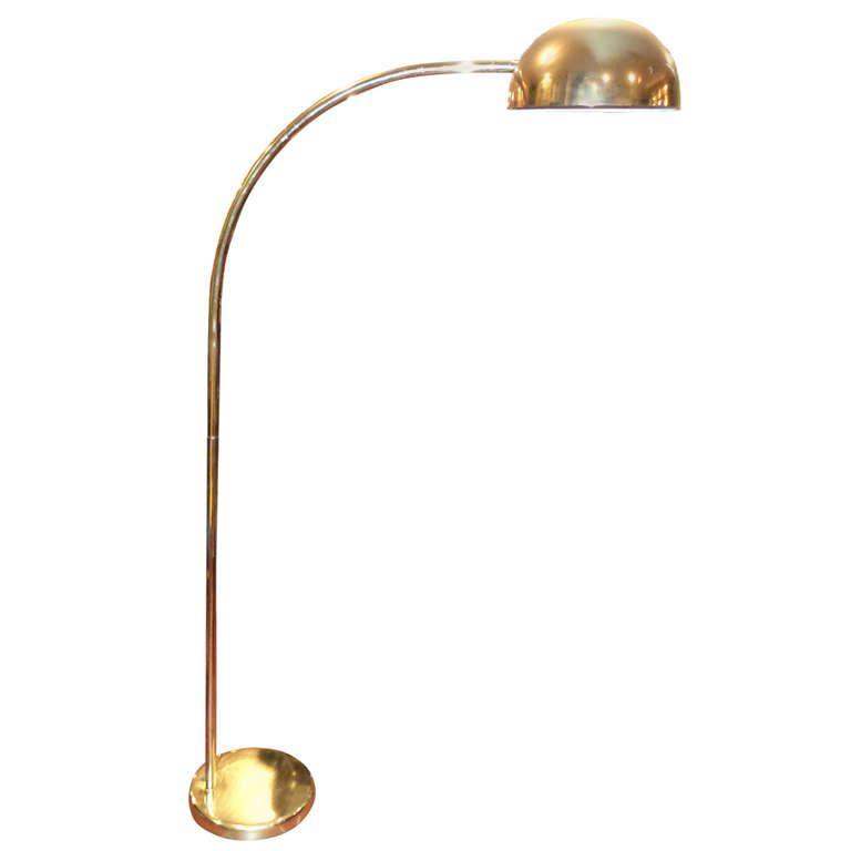 Vintage Brass Arc Floor Lamp  Arc floor lamps Floor lamp