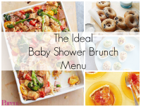 The Ideal Baby Shower Brunch Menu